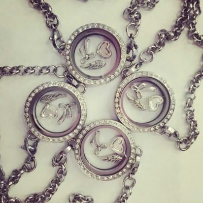 Floating memory locket chain bracelet
