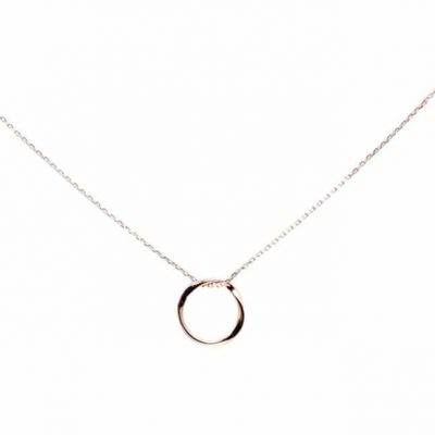 Rose gold delicate circle necklace